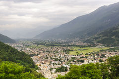 Valtellina, panoramic view Royalty Free Stock Photo
