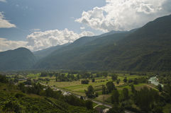 Valtellina valley landscape Royalty Free Stock Images
