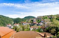 Valtessiniko village. Arcadia, Peloponnese, Greece. The beautiful village Baltessiniko is mountainous village in Arcadia, Peloponnese, Greece Stock Images