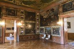 Valtice宫殿第18个c 在捷克,列支敦士登的支配的王子的前位子 建筑师约翰Erlach 免版税库存图片
