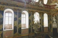 Valtice宫殿第18个c 在捷克,列支敦士登的支配的王子的前位子 建筑师约翰Erlach 免版税图库摄影