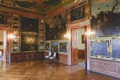 Valtice宫殿第18个c 在捷克,列支敦士登的支配的王子的前位子 建筑师约翰Erlach 免版税库存照片