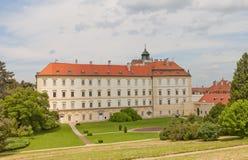 Valtice宫殿(第18个c ),捷克 联合国科教文组织站点 图库摄影
