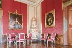 Valtice содержит одну из самых впечатляющих барочных резиденций Центральной Европы обедать нутряной космос места перемещение карт Стоковые Изображения