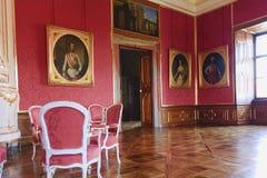 Valtice содержит одну из самых впечатляющих барочных резиденций Центральной Европы обедать нутряной космос места перемещение карт Стоковые Фото