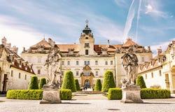 Valtice содержит одну из самых впечатляющих барочных резиденций, Стоковые Изображения