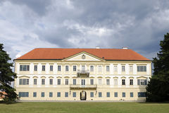 Valtice, the back side of renaissance castle Royalty Free Stock Images