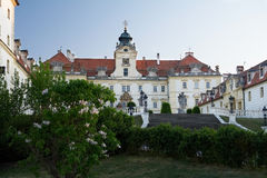 Valtice castle. Evening. Evening view of Valtice castle, one of the most impressive Baroque residences of Central Europe Royalty Free Stock Photography
