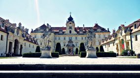 Valtice castle in summer. Valtice castle in Czech republic in summer Royalty Free Stock Photos
