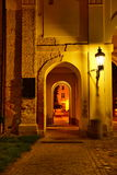 Valtice Chateau Entrance. In Night, South Moravia, Czech Republic (2013 Royalty Free Stock Photography