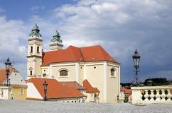 Valtice, the church of Assumption Stock Photos