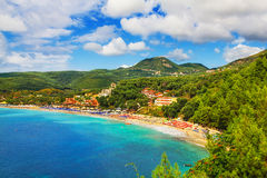 Valtos beach near Parga, Greece Stock Photos