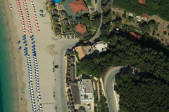 Valtos beach Shot from Helicopter Royalty Free Stock Image
