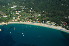 Valtos beach Shot from Helicopter Stock Image