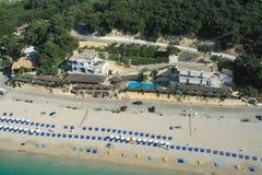 Valtos beach Shot from Helicopter Royalty Free Stock Photos