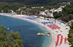 Valtos plaża blisko Parga w Grecja fotografia royalty free