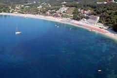 Valtos strand Parga Grekland Arkivbilder