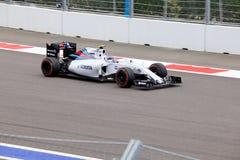 Valtteri Bottas гонок Williams Мартини Формула-1 Сочи Россия Стоковые Изображения RF