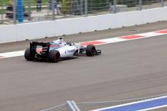 Valtteri Bottas гонок Williams Мартини Формула-1 Сочи Россия Стоковые Изображения
