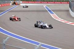 Valtteri Bottas гонок Williams Мартини Формула-1 Сочи Россия Стоковое Фото