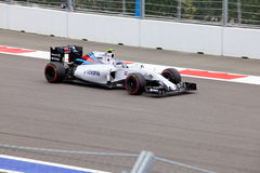 Valtteri Bottas av Williams Martini Racing Formel en Sochi Ryssland Royaltyfria Bilder