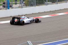 Valtteri Bottas av Williams Martini Racing Formel en Sochi Ryssland Arkivbilder
