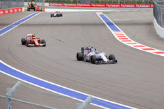 Valtteri Bottas av Williams Martini Racing Formel en Sochi Ryssland Arkivfoto