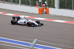 Valtteri Bottas av Williams Martini Racing Formel en Sochi Ryssland Royaltyfri Fotografi