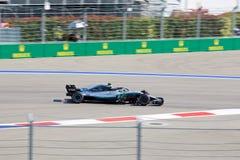 Valtteri Bottas of Mercedes AMG Petronas. Formula One. Sochi Russia. Sochi, Russia - September 30, 2018: Valtteri Bottas of Mercedes AMG Petronas F1 team racing stock images