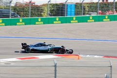 Valtteri Bottas of Mercedes AMG Petronas. Formula One. Sochi Russia. Sochi, Russia - September 30, 2018: Valtteri Bottas of Mercedes AMG Petronas F1 team racing stock photography
