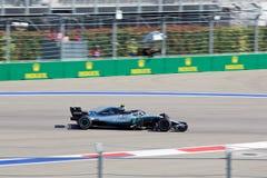 Valtteri Bottas of Mercedes AMG Petronas. Formula One. Sochi Russia. Sochi, Russia - September 30, 2018: Valtteri Bottas of Mercedes AMG Petronas F1 team racing stock photo
