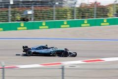 Valtteri Bottas of Mercedes AMG Petronas. Formula One. Sochi Russia. Sochi, Russia - September 30, 2018: Valtteri Bottas of Mercedes AMG Petronas F1 team racing stock image