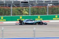 Valtteri Bottas of Mercedes AMG Petronas. Formula One. Sochi Russia. Sochi, Russia - September 30, 2018: Valtteri Bottas of Mercedes AMG Petronas F1 team racing stock photos