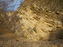 Valuable geological location Muslovka quarry Royalty Free Stock Image