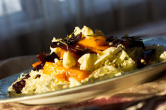 Valuable natural Salad with Pumpkin and beetroot salad with grilled and seeds stock photos