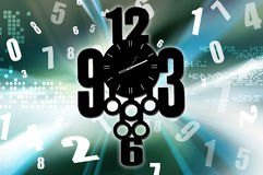 Valuable time. Concept of time passing, time illustrations Stock Photography