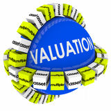 Valuation Assets Multiples Revenues Calculation Formula Sphere Stock Images