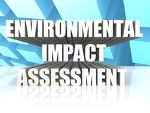 Évaluation d'impact sur l'environnement Image libre de droits