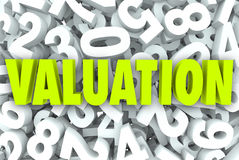 Valuation 3d Word Company Business Value Worth Price Multiples Royalty Free Stock Photo