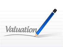 valuation message sign illustration design Stock Images