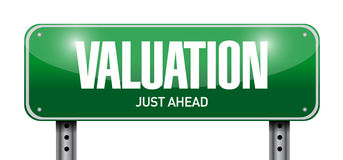 Valuation road sign illustration design Royalty Free Stock Images