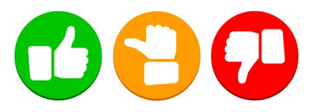 Valuation Thumbs Button - Vector Stock Photography