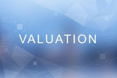 Valuation word on blurred and polygon background Royalty Free Stock Image