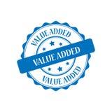 Value added stamp illustration. Value added blue stamp seal illustration design Stock Photography