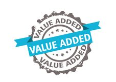 Value added stamp. Sign. Vector Stock Images