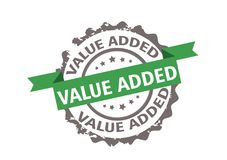 Value added stamp. Sign. Vector Stock Image