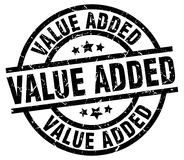 Value added stamp. Value added grunge stamp on white background Royalty Free Stock Photo