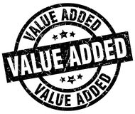 Value added stamp. Value added grunge stamp on white background Royalty Free Stock Photos