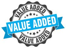 Value added stamp. Value added grunge stamp on white background Royalty Free Stock Photography