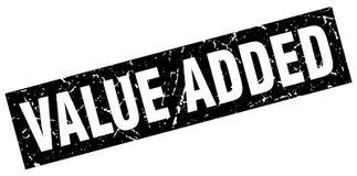 Value added stamp. Value added grunge stamp on white background Stock Image